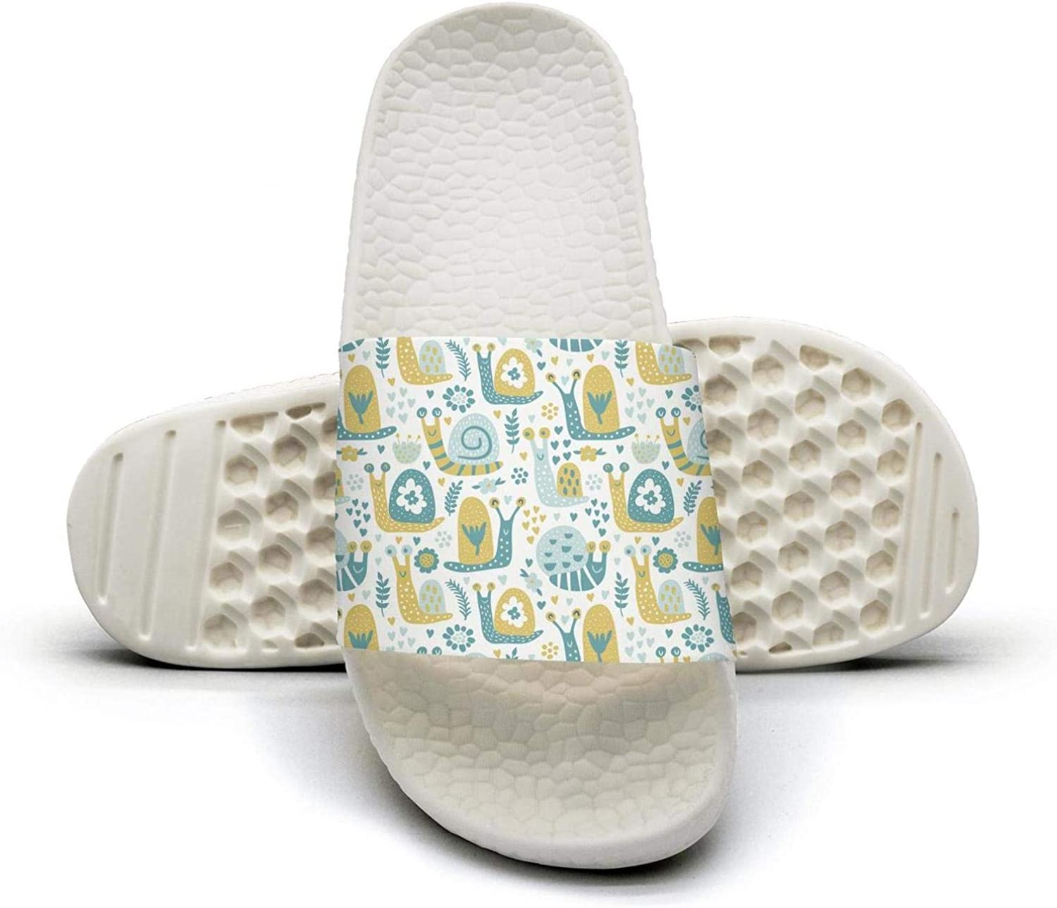 Womens Slide Sandals Forest Style Cute Yellow And bluee Snail Indoor Bath Slipper Sunmmer Slip On Sandals Pool shoes