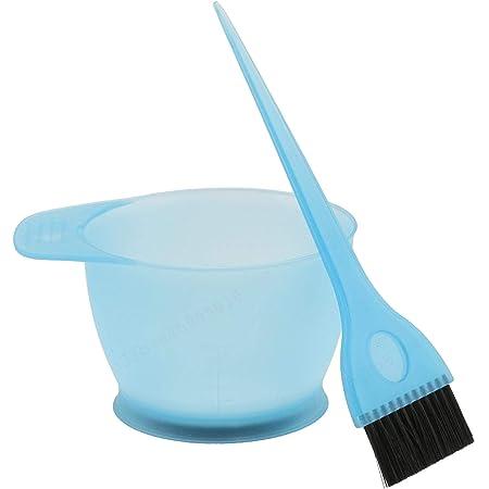 LAQI Kit de Pinceles de Peine de Mezcla de Color Azul Juego de Herramientas de Tinte Tazón de Color de Tinte para el Cabello de peluquería, como se ...