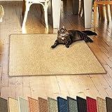casa pura Sisalteppich Natural Line | ideal als Kratzmatte für Katzen | schadstofffrei & widerstandsfähig | Sisal Kratzteppich in vielen Farben und Größen (Natur, 60x80 cm)