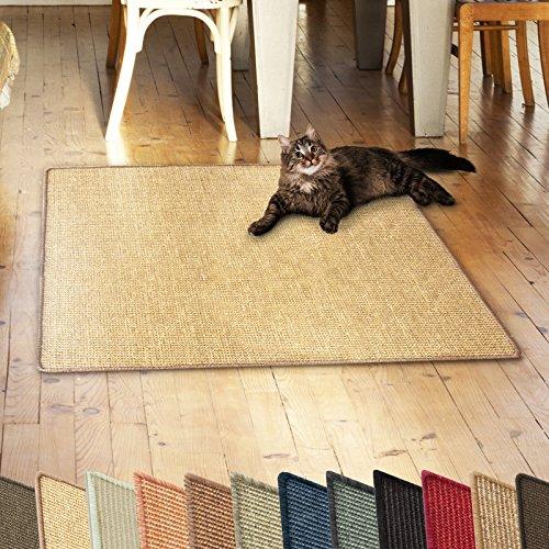 casa pura Sisalteppich Natural Line | ideal als Kratzmatte für Katzen | schadstofffrei & widerstandsfähig | Sisal Kratzteppich in vielen Farben und Größen (Natur, 50x50 cm)