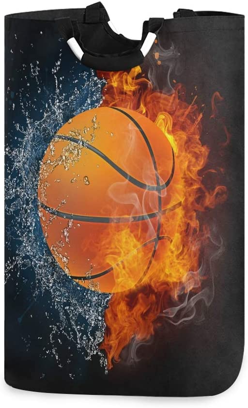 AKIOG Laundry Basket Large Sport Water Fire Basketball Sale price H Excellent