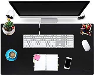 Multi-Functional Office Desk Pad 31 x 17 Inch, NPET MP10 Ultra Thin Waterproof PU Leather Mouse Pad, Extended Large Mat with Non-Slip Rubber Base, Dual Use Desk Writing Mat for Office/Home