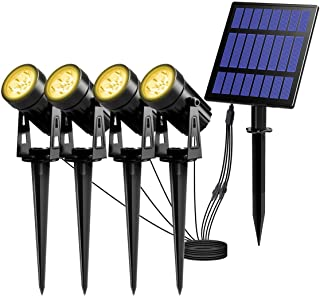 主導proyectorソーラーエクステリアのとき、fOCOソーラーは、太陽詐欺不浸透性IP65ルスパラエクステリア、ブランコのcálido3000Kを導いた270°アングロAjustableファロラスソラレス。(4 Unidades) lsmaa (Size : 4H3000K)