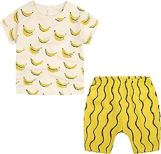 Ropa Bebe Niña Conjunto Camiseta y Pantalones Cortos Disfraz Primavera Traje Pijama Chandal Verano 18 Meses - 4 Años