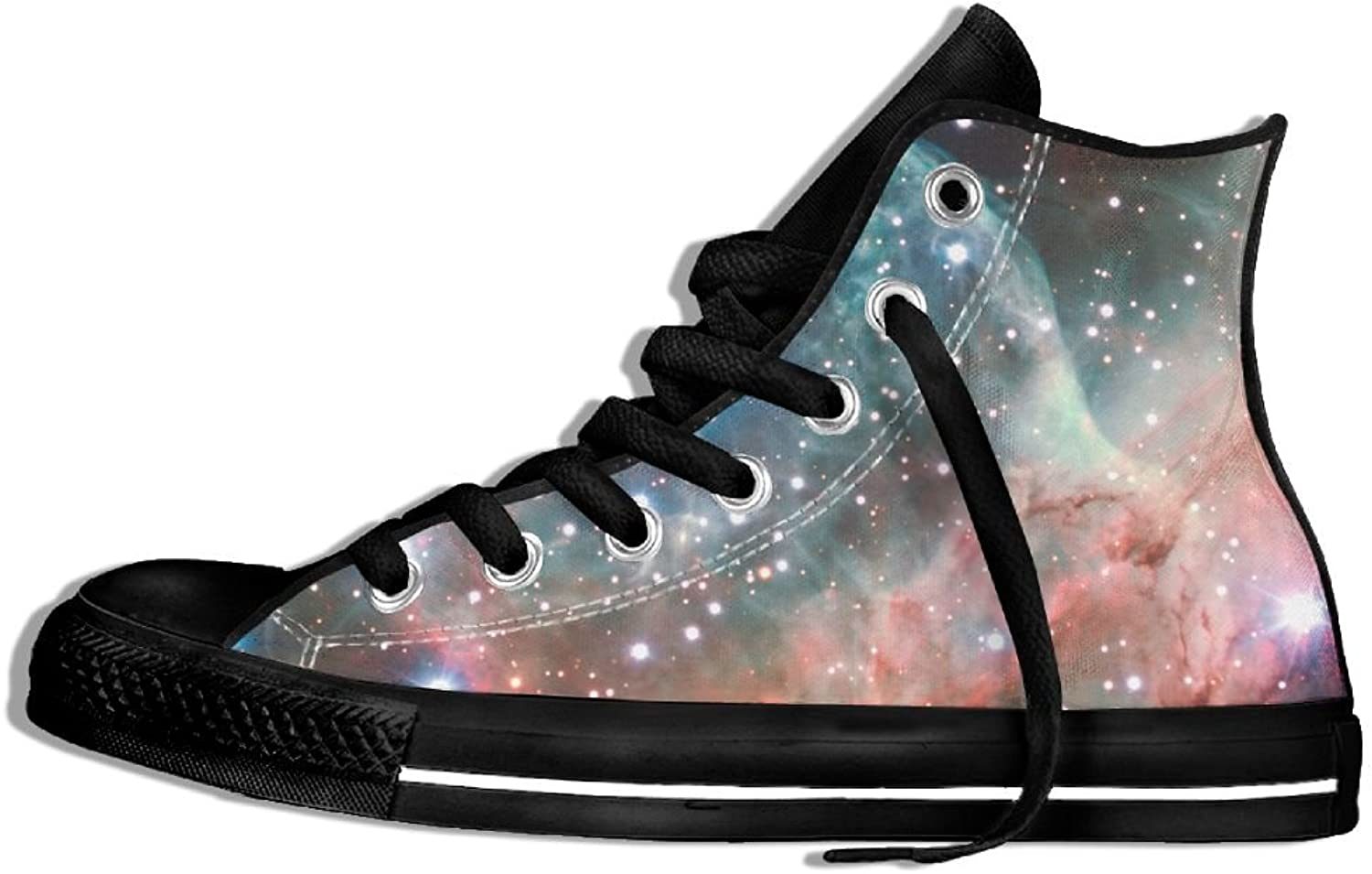 Unisex High-Top Sneakers shoes Fantasy Starry Sky Flat Non-slip Canvas Casual Running Trainers shoes
