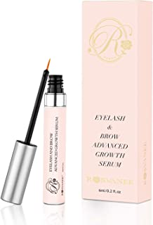ROSVANEE Eyelash Growth Serum 6ml - Natural Lash Enhancing Serum Brow Booster for Longer and Thicker Eyelashes, Fuller and Healthier Eyebrows