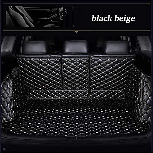 0beilita Protezione Bagagliaio Auto Copri Baule per Ford Tutti i modelli Explorer Edge Everest Taurus Kuga Ecosport Escort Focus Fiesta Telo Portabagagli Auto Accessori, Beige nero
