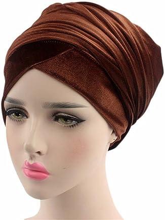 db81c6b1cc1 Qhome Girls India Hat Kids Turban Cap Kids Beanie Headband · Qhome Luxury  Pleated Velvet Turban Hijab Head Wrap Extra Long Tube Indian Headwrap Scarf  Tie