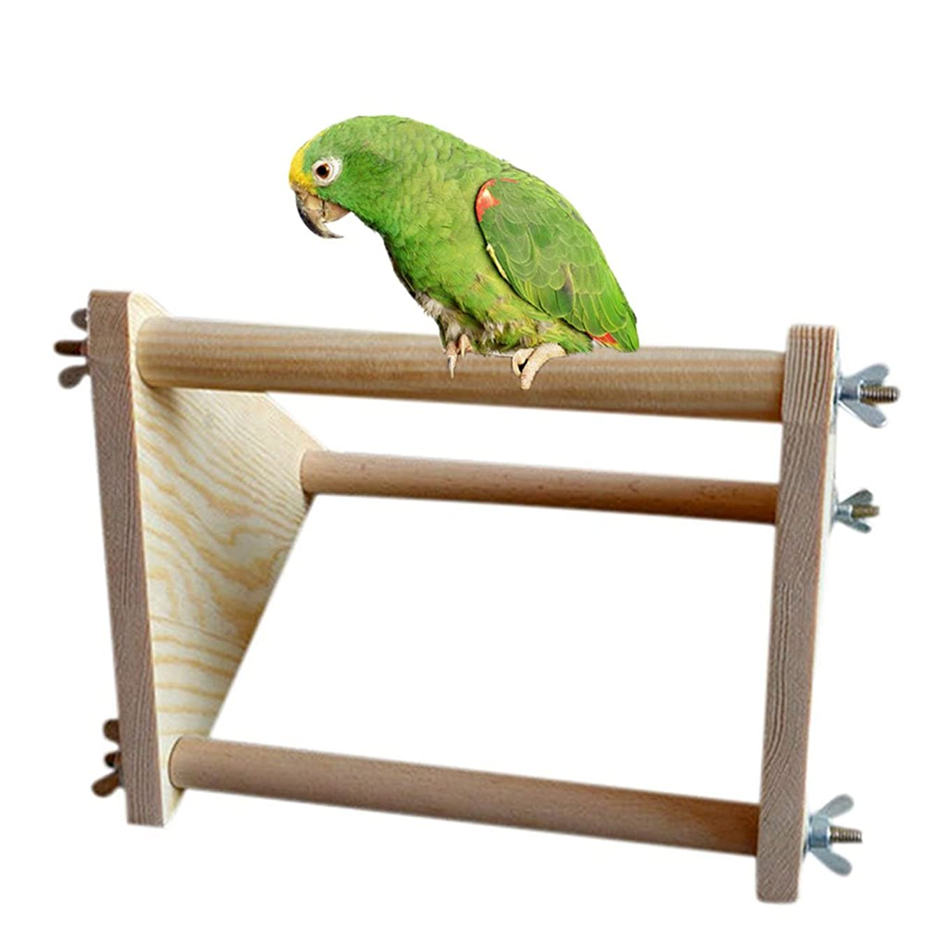 Wood Perch for Bird Parrot Macaw African Greys Budgies Parakeet Cockatiel Cockatoo Conure Lovebird Table Training Perch Stand Toy