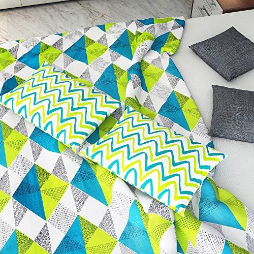 Divine Casa 100% Cotton Geometric Print Mix N Match Bedsheet for Double Bed (Multicolour) 4