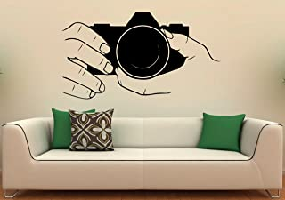 KaaHego Camera Wall Decal Snapshot Vinyl Stickers Photo Studio Interior Design Art Murals Housewares Bedroom Wall Décor