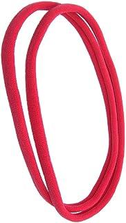 1141-002 - Set 2 pezzi fasce per capelli Unisex cm 1 in filanca made in Italy - Ideali per Sport - Fascia per capelli (Ger...