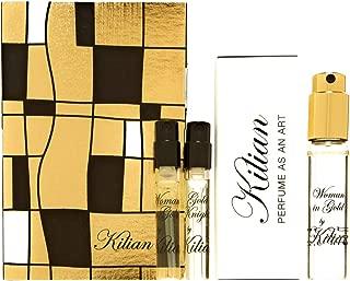 Kilian Woman in Gold Eau de Parfum 0.25 oz. Woman in Gold Travel Eau de Parfum 0.04 oz. Gold Knight Travel Eau de Parfum 0.04 oz.