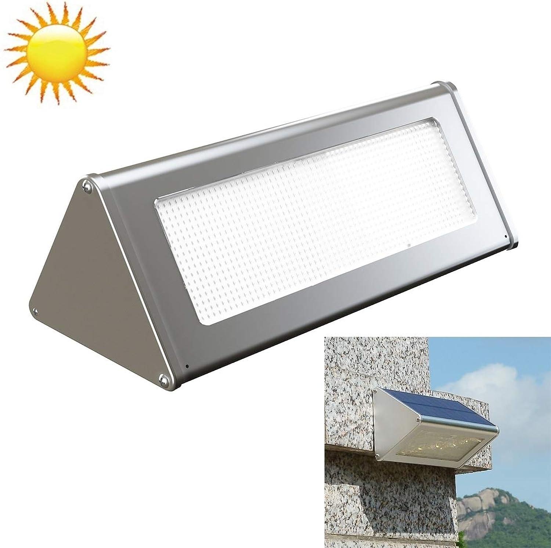 Einfach  HBT-1606 5,0 V 3,2 Watt 800 LM 48 LED SMD 2835 Radarsensor Solar Bewegungssensor Dreieck Energiesparende Wandleuchte mit Sonnenkollektor und Grüncktem Schalter für Garten Garten usw. Stab