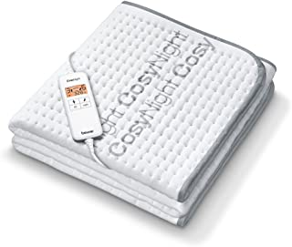 Beurer UB 190 CosyNight Comfort Warmte-onderbed, op afstand bestuurbaar via app en Amazon Alexa, twee temperatuurzones