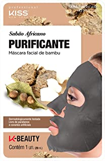 Kiss NY Professional Máscara Facial de Bambu  - Sabão Africano, Kiss New York Professional