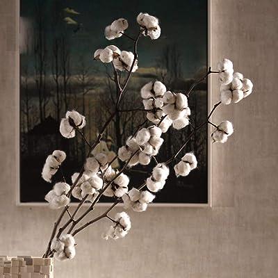 GuanJer Art. Artificial Flor de algodón Ramo de Flores secas Ramo ...