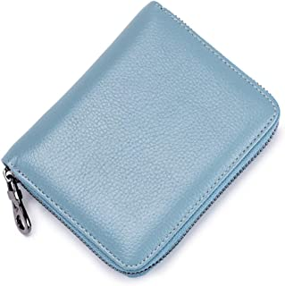 Credit Card RFID Anti-Theft Wallet Organ Card Case Unisex Compact Zipper Wallet