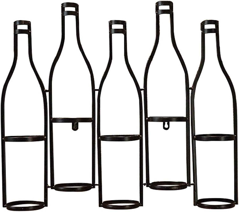 liquidación hasta el 70% YANZHEN-Botellero para Para El Viento Viento Viento Industrial Montado En La Parojo Soldó con Autógena El Arte Durable del Hierro del Estilo Americano del Gancho Ocultado, 5 Botellas  buena calidad