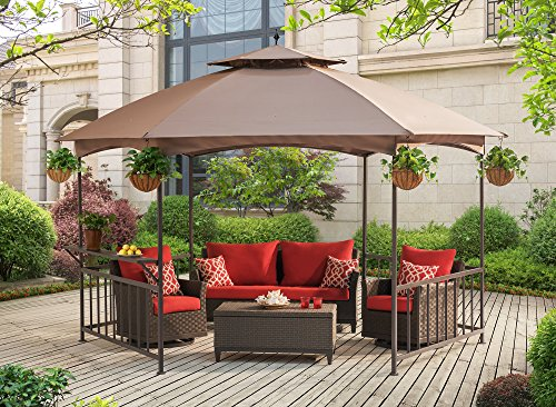 Sunjoy D-GZ076PST-D Madison Gazebo Softtop, Brown