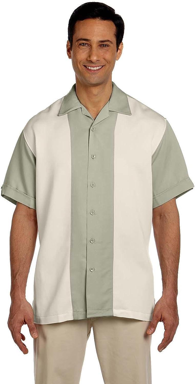 Harriton Mens Two-Tone Bahama Cord Camp Shirt M575