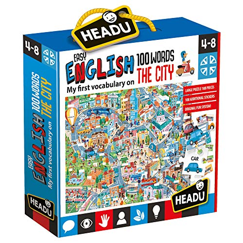 Headu- Easy English 100 Words City Puzzle, IT21000