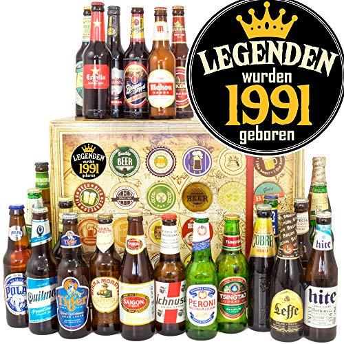 Legenden 1991/24 Biere aus aller Welt / 1991 Geschenkpaket/Bier Adventskalender Männer