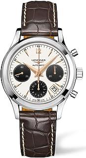 Longines Heritage Column Wheel Chronograph Steel Mens Strap Watch Calendar L2.742.4.02.2