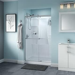 Delta Shower Doors SD3276567 Trinsic Semi-Frameless Contemporary Sliding Shower Door 48in.x71in, Nickel Track