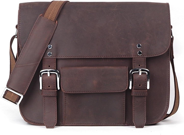 DQMSB Herren Herren Herren Leder Umhängetasche Mode Persönlichkeit Messenger Bag große Kapazität Computer Tasche Aktentasche B07QKX9K9M 79f9af