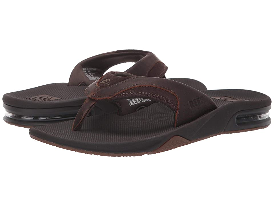 Reef Fanning Leather (Dark Brown) Men's Sandals