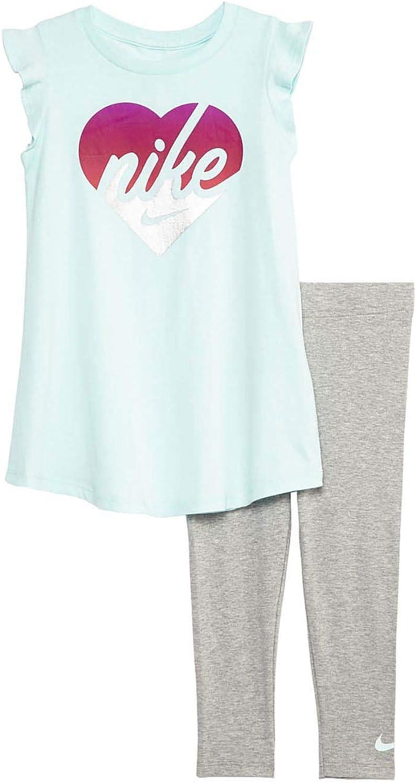 Nike Toddler Girls Heart Cotton Tunic お気に入り 送料無料 S Piece Legging 2