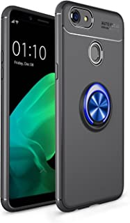 Meipa Time Shockproof Anti-Scratch Drop Indulgent TPU Slender Protection Case with 360 Degree Rotating Finger Ring Holder for Oppo F5/F5 Youth/A73 (Color : Blue+Black)