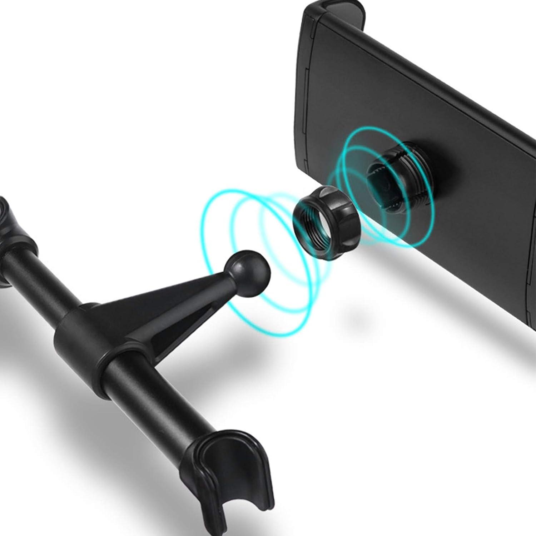 Negro APSD Soporte Tablet Coche Soporte para Reposacabezas Sporte del Asiento Trasero Soporte Base Ajustable 360/° Silicona Antideslizante para 4~11 Pulgada Tablets Smartphones Ipads E-Reader