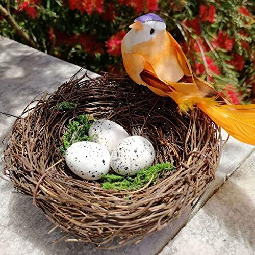 Wffo - Juego de 5 nidos Hechos a Mano para pjaros y Manualidades en casa o Naturaleza, Ligeros y Seguros, tamao bsico para Llevar a Cualquier Lugar