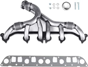 Goplus Exhaust Manifold Kits, Stainless Steel Exhaust Header, Front Rear Automotive Replacement Exhaust Manifolds Pipe Set for 1991-1999 Jeep Comanche Wrangler Grand Cherokee 4.0L-L6