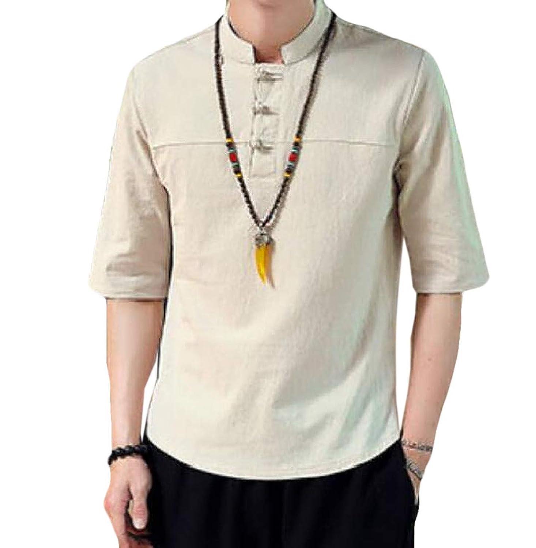 YAXINHE メンズ立体3ボタンコットンメッシュプラスサイズ半袖ポロシャツ