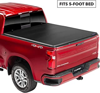 Lund Genesis Tri-Fold Soft Folding Truck Bed Tonneau Cover | 95080 | Fits 2004 - 2012 GM/Chevy, Canyon/Colorado 5' Bed