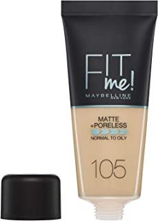 Maybelline Fit Me Foundation Matte+Poreless 105 Natural Ivory 30ml