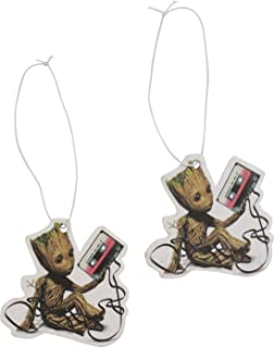 Square Deal Recordings & Supplies Baby Groot Holding Cassette - Guardians of the Galaxy - Strawberry Scent Air Fresheners - Set of 2