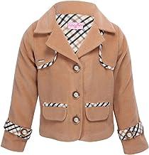 Cutecumber Girls Coat Fabric Embellished Beige Winter Coat.CC1799A-BEIGENEW