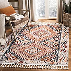 Amazon Safavieh Farmhouse Collection FMH816A Ivory and Navy Area (8' x 10') Rug