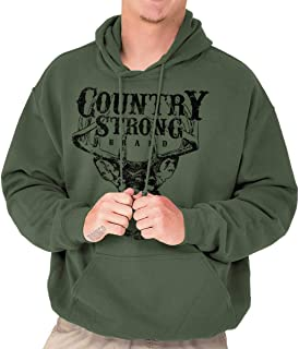 Brisco Brands Country Strong Deer Hunting Western Cowboy Hoodie