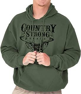 Brisco Brands Country Strong Deer Hunting Western Cowboy Hoodie