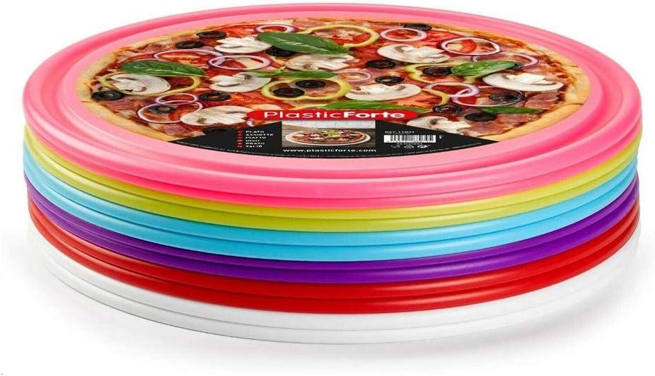 35 cm Dessertteller rund Kunststoff-Pizzateller 35,5 x 35,5 x 1 cm