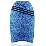 Tribe All-in-one Bodyboard, kickboard, handboard - 22 Inch Blue Bodyboard with EPS core and HDPE Slick for Kids and Adults
