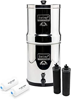 Berkey Royal with 2 Black Filters and 2 PF-2 Fluoride Filters, 3.25 Gal- Silver