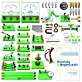 EUDAX School Physics Labs Basic Electricity Discovery Circuit and Magnetism Experiment kits for Kids Junior Senior High School Students Electromagnetism Elementary Electronics