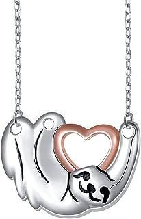 925 Sterling Silver Cute Animal Sloth Heart Earrings Bracelet Ring Pendant Necklace Gift for Women Teen Girls