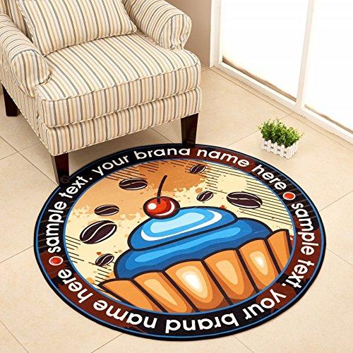 Kindermatte Persönlichkeit Runder Teppich Cartoon Kinderzimmer Nachttisch Studie Fitting Spiegelmatte Computerstuhl Drehstuhl Hängender Korb Zelt 120cm 120 cm Durchmesser